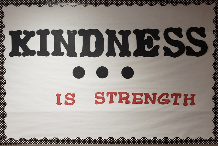 kindness is strength bulletin board