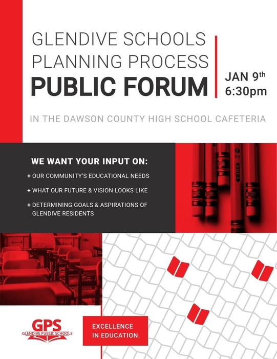 flyer about a community forum on Jan 9th