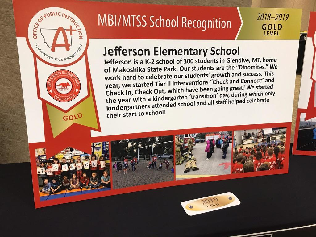 JES Award Poster for MBI Gold