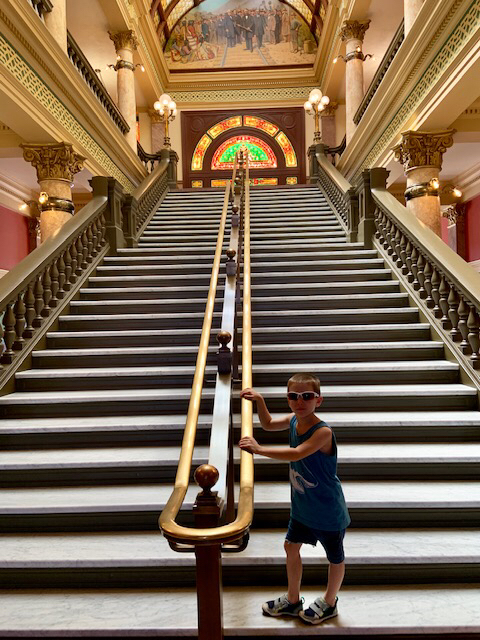 Ethan at the state capital