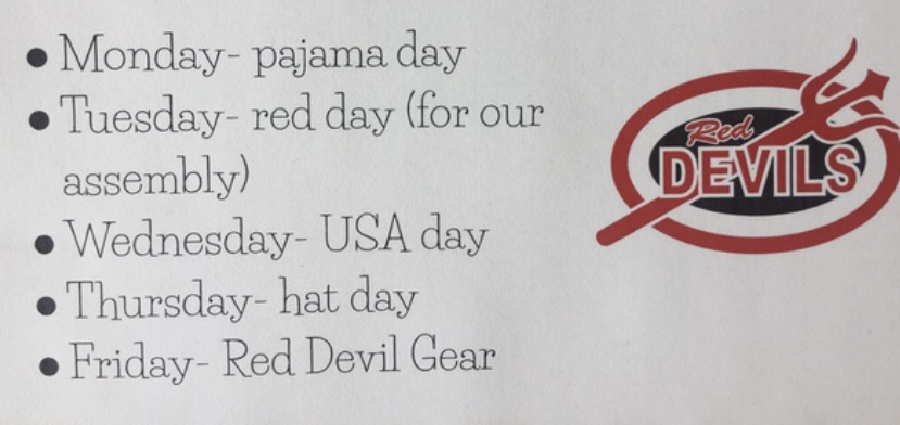 Spirit days for homecoming week