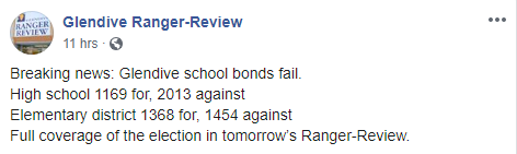 Bond Vote Results