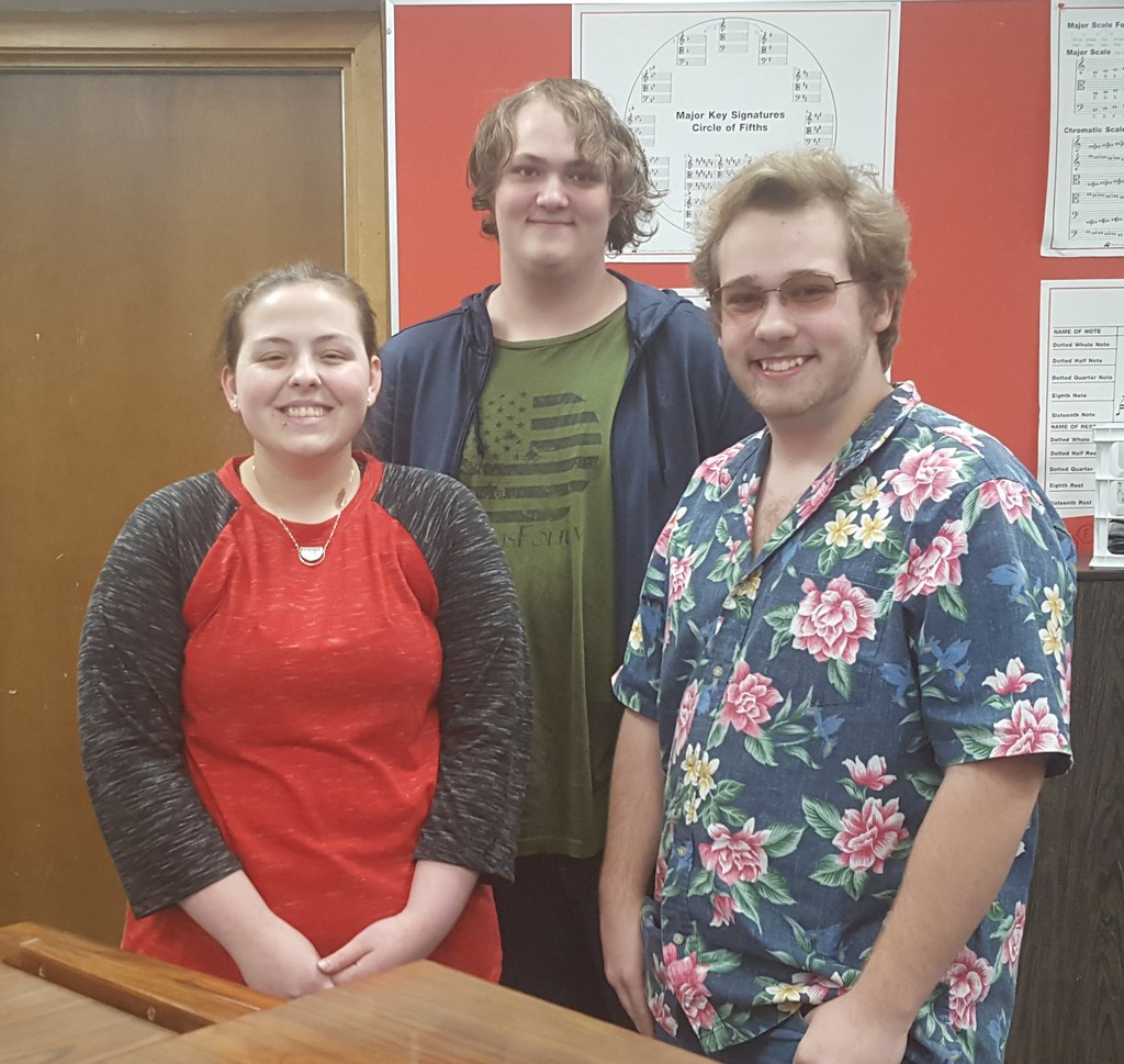 Cassandra Brattain, Ethan Checketts and David Crighton were recently selected through a rigorous audition process to participate in All - State Choir.  The students rehearsed for two days, and then performed under the direction of Mack Wilberg - the current conductor of the Mormon Tabernacle Choir.